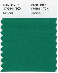 Pantone Emerald swatch