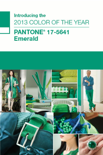 Pantone Colour of the Year 2013: Emerald