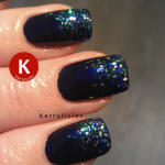 China Glaze Up All Night with H&M Blue Bliss 2
