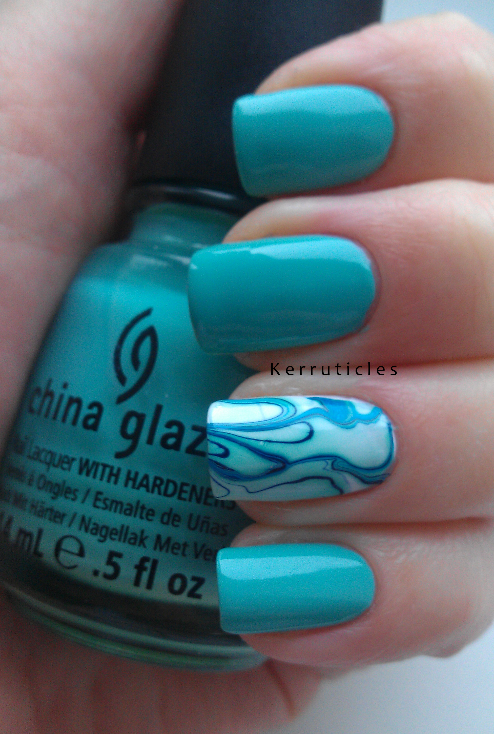 China glaze for audrey with a water marble accent nail kerruticles china glaze for audrey with a water marble accent nail solutioingenieria Image collections