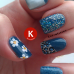 Blue kitchen sink manicure