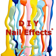 DIY nail effects: concrete, liquid sand, leather