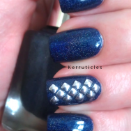A England Tristam with square silver studs nails