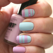 Collection 2000 Dynasty and Button Moon striped nails
