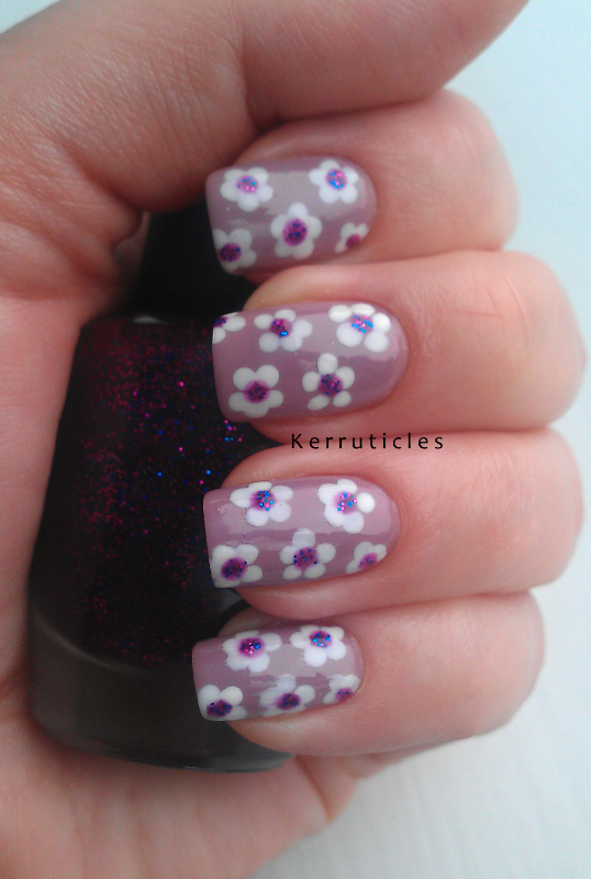 Dotted Flowers Beauty Uk Smokey Lilac Nyc Pinstripe White And W7