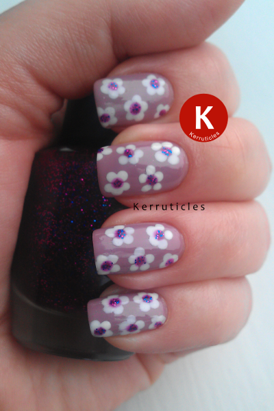Dotted Nail Art Flowers Beauty Uk Smokey Lilac Nyc Pinstripe White And W7 Cosmic