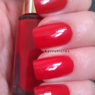L'Oreal Rouge Cancan nails