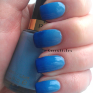 Revlon Dreamer Collection 2000 BMX Bandit and George Boom blue gradient nails