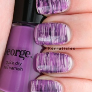 Fan brush purple nail art nails