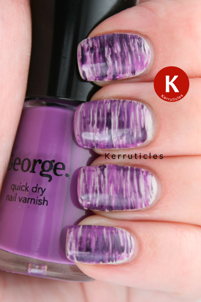 Fan brush stripes sally hansen ion revlon plum night george fan brush nail art using revlon plum night and george lavender fantasy over sally hansen ion prinsesfo Image collections