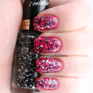 L'Oreal Top Coat Confettis nails