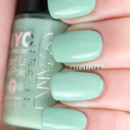 NYC Mint Macaroon nails