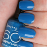 Rimmel Blue Eyed Girl nails