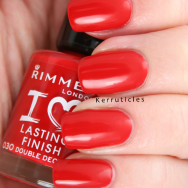 Rimmel Double Decker Red nails