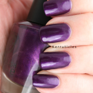 W7 Purple Paradise nails
