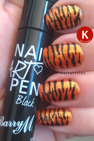 Barry M Nail Art Pen Black tiger nails small