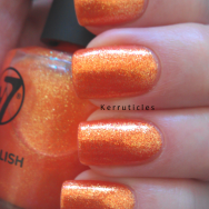 W7 Sunset Island nails