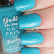 Barry M Gelly Hi-Shine Guava nails