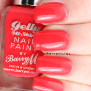 Barry M Passion Fruit new Gelly Hi-Shine polishes nails