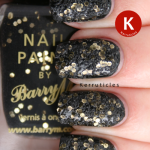 Barry M Sequin Nail Effects Black