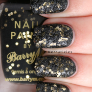 Barry M Sequin Nail Effects Black nails