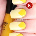 Triangular yellow half moons