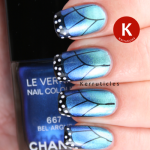 Butterfly nails with Chanel Azuré and Bel-Argus