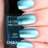 Chanel Azuré nails