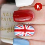Union Jack manicure