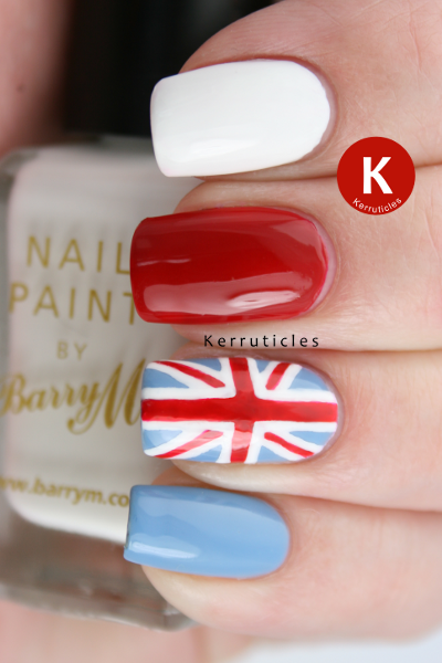 Union Jack Accent Nail For The 60th Anniversary Of The Queens