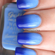 Blue gradient with Barry M Blue Grape and Barry M Blueberry nails