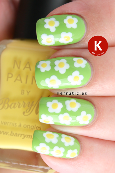 Dotted flowers Barry M polishes