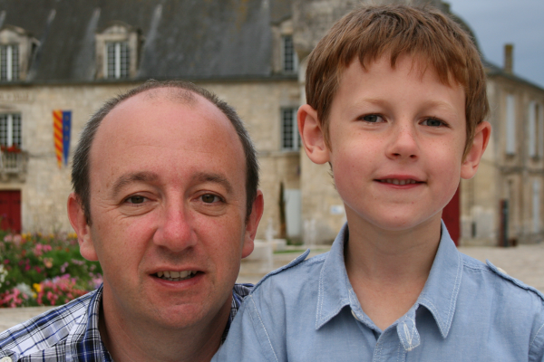 My husband and son, on holiday in France a couple of years ago