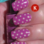 NYC Lincoln Park Lavender with OPI My Vampire Is Buff polka dots