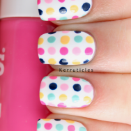 #33DC Day 1 Dots nails