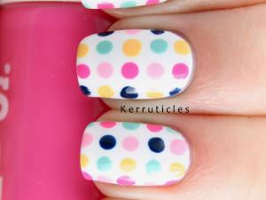 #33DC Day 1 Dots nails