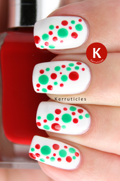 Mexican themed dotted nails