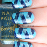 Braided nails using Barry M polishes