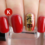 Chinese nails Ciate Ladylike Luxe Sally Hansen Rapid Red