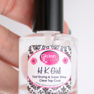 Glisten & Glow HK Girl nails top coat