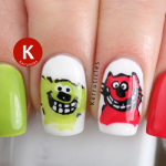 Roobarb and Custard nails