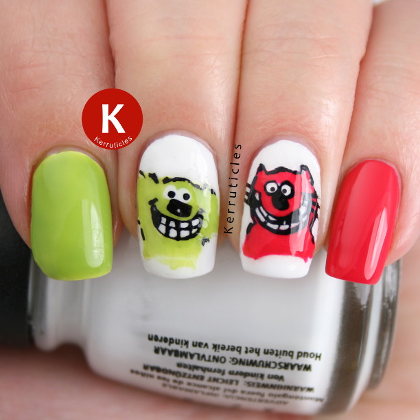Roobarb Custard nails