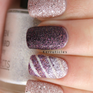 Textured nails, using Barry M Countess and Duchess and Seventeen Celestial Pearlnails