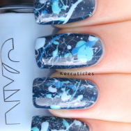 Chanel Magic blue splatter nails