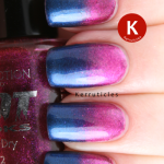 Collection 2000 Vogue Minx pink blue gradient nails