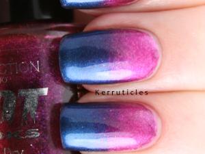 Collection 2000 Vogue Minx pink blue gradient nails