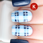 Tartan plaid nails