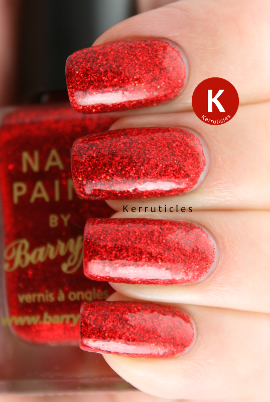 Barry M Red Glitter