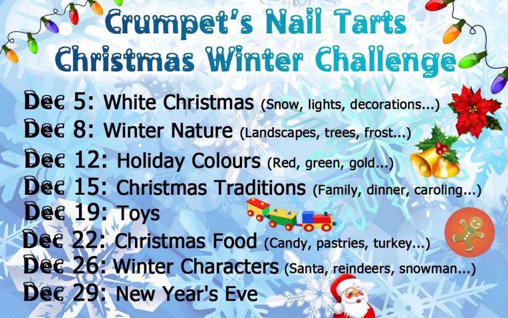 Crumpets Nail Tarts Christmas Winter Challenge 2013