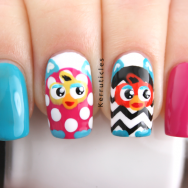 Furby nails manicure